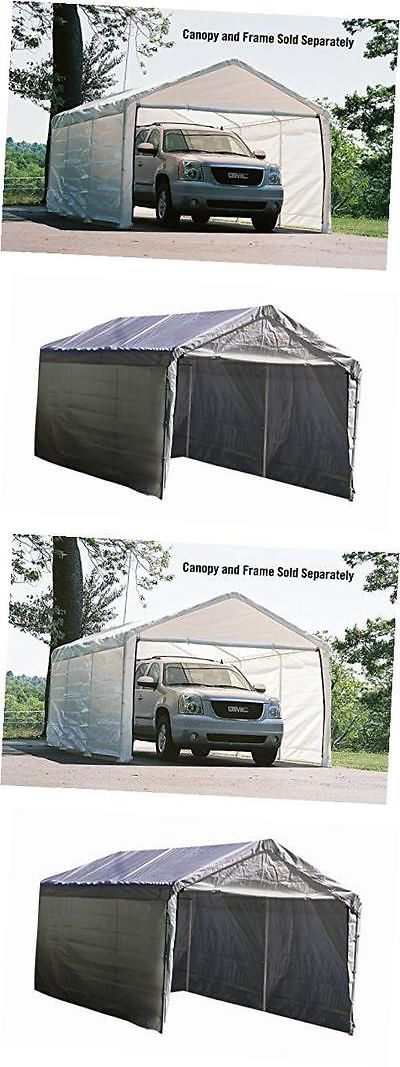 Awnings and Canopies 180992 Outdoor Canopy Enclosure Kit 12X20 (Only) Car Shelter Cover & Awnings and Canopies 180992: Outdoor Canopy Enclosure Kit 12X20 ...