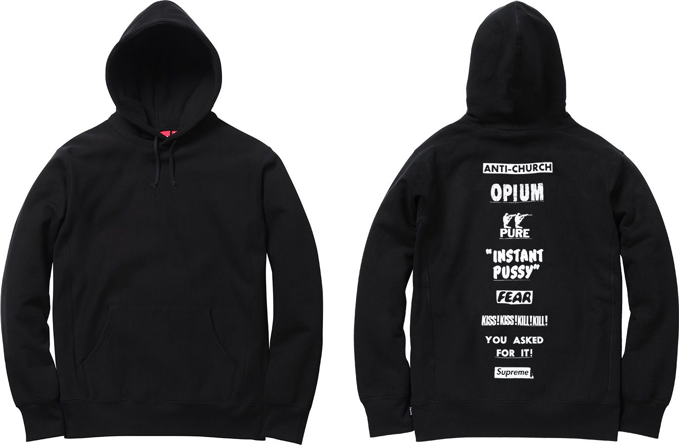 Supreme Pure Fear Hooded Sweatshirt Sweatshirts Hooded Sweatshirts Pure Products [ 900 x 1373 Pixel ]