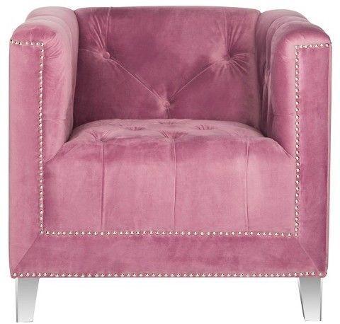 Hollywood Glam Acrylic Club Chair - Safavieh | Feminine Nest | Pinterest