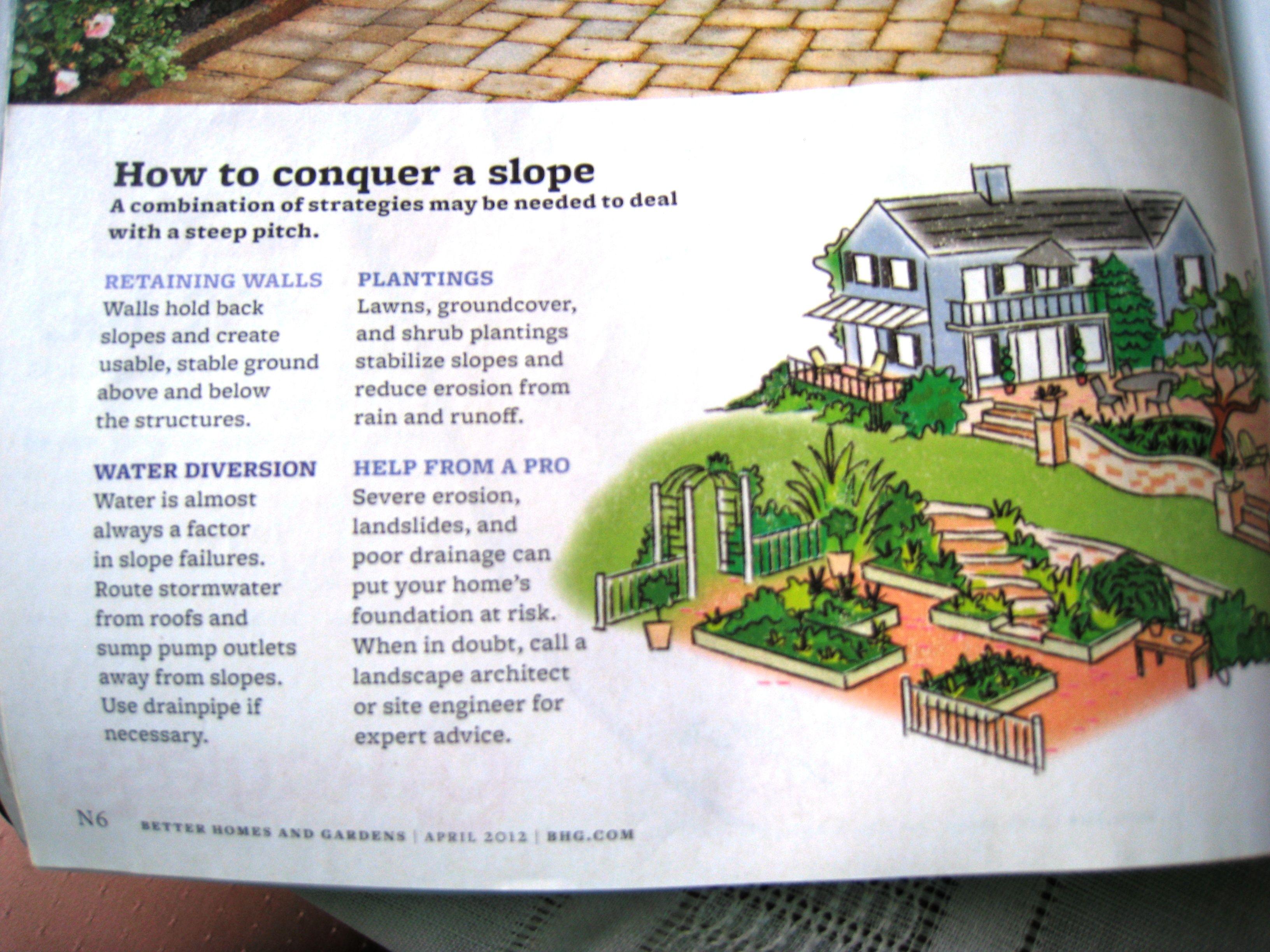 Dealing with sloped yard | Garden Ideas | Pinterest | Garden ideas ...