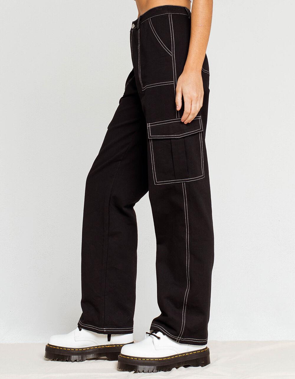 FULL TILT Contrast Stitch Womens Cargo Pants