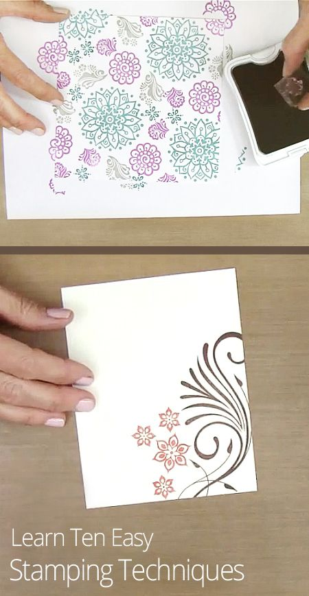 Card Making Ideas Rubber Stamp Techniques Part - 16: Card Ideas · Getting Into The Stamping Craze? Learn Ten Easy Background Stamping  Techniques To Create Your Own