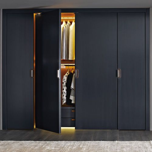 Contemporary Wardrobe Wooden With Swing Doors Residential
