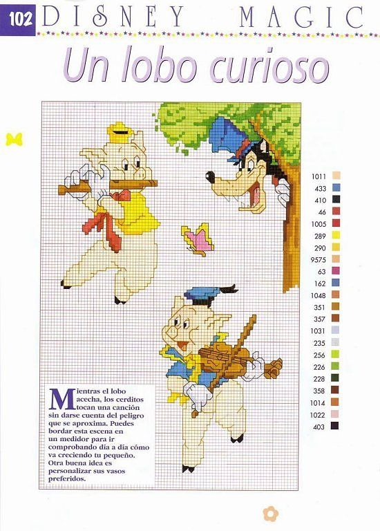 Solo Patrones Punto Cruz | Filet crochet, Cross stitch and Needlework