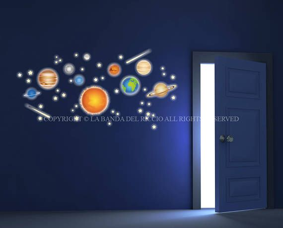 Planeten Sonnensystem Raum Wand-Aufkleber-flou