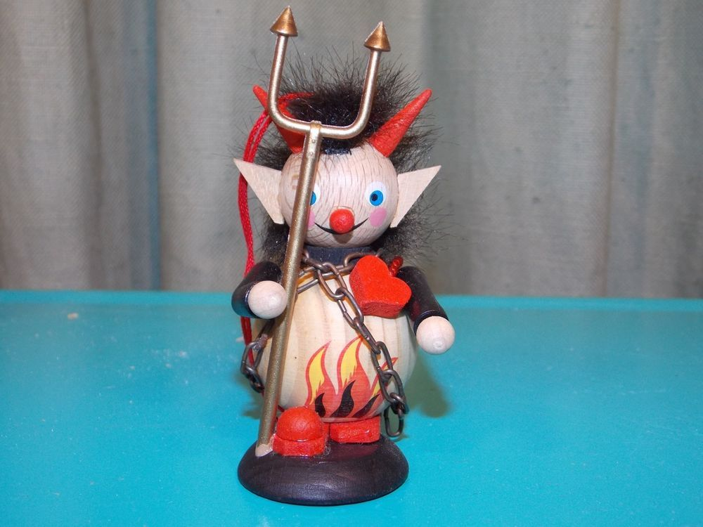 Steinbach Krampus German Ornament Wood Santa's evil twin