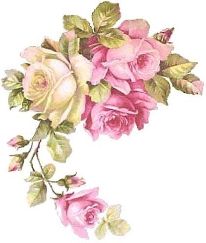 Esquinero Rosas Flower Art Vintage Flowers Floral Art