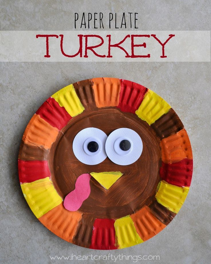 Paper Plate Turkey Thanksgiving Kids CraftsThanksgiving