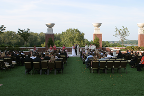 Ameristar Casino Roof Top Wedding Ceremony. St. Charles, MO.