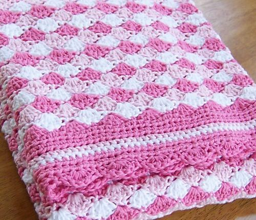 Baby Blanket Shells Of Love Pattern By Darleen Hopkins Ravelry Mesmerizing Crochet Baby Blanket Shell Pattern