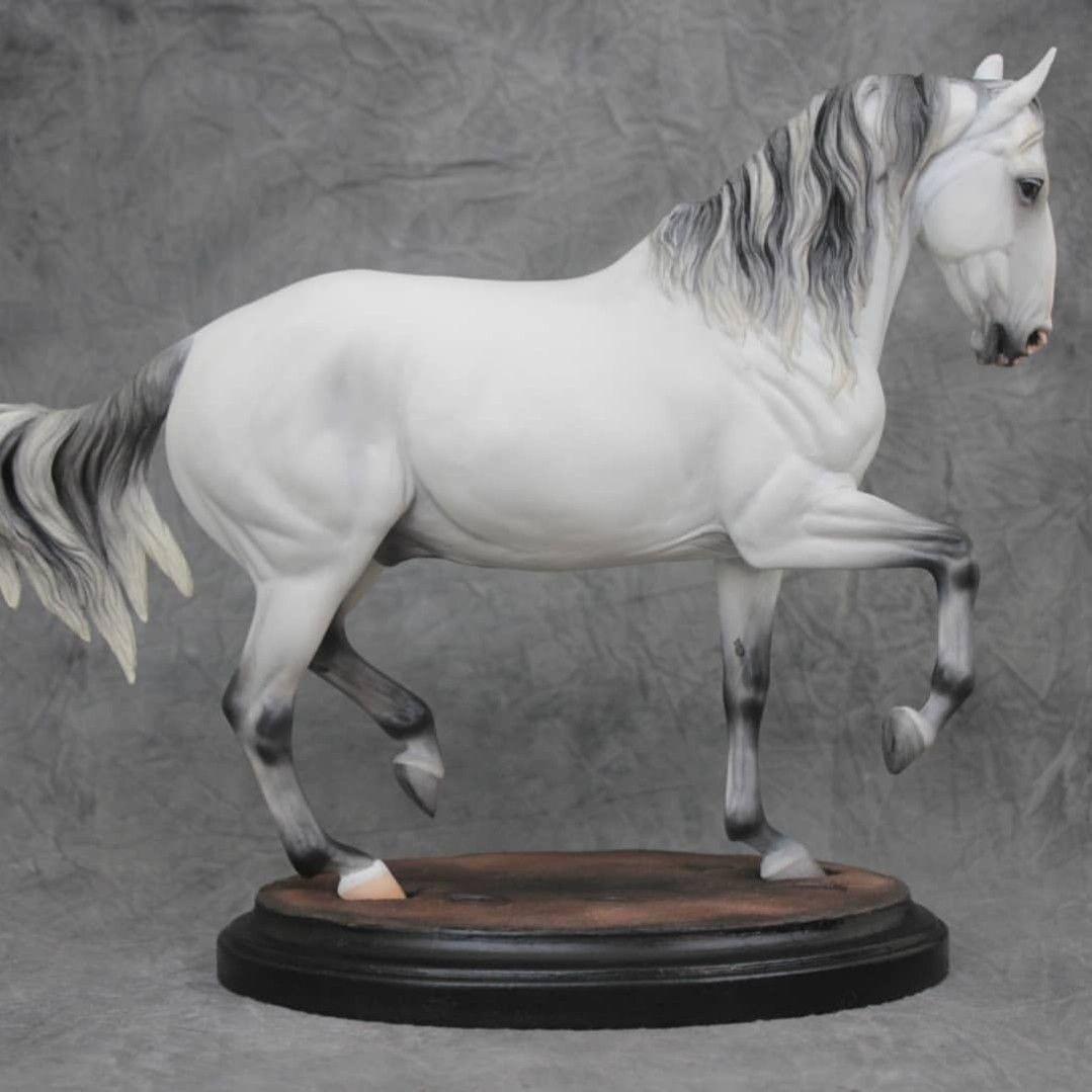Horse inspiration by carissa kirksey spruce wood on model