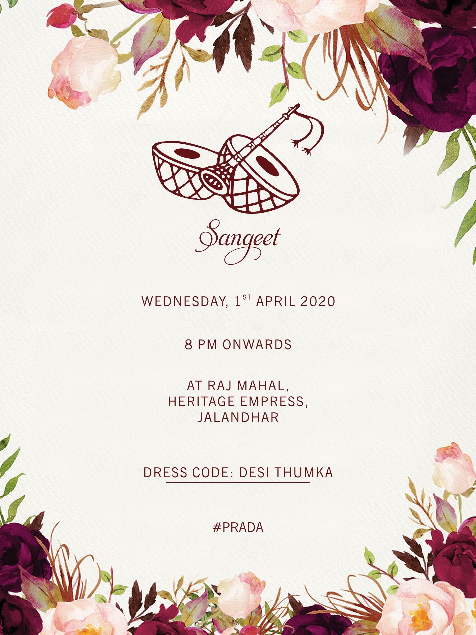 Best Digital Traditional Wedding Invitation Indian Marriage Invitation Cards Social Media Marketing Agency Bangle Ceremony Social Media Marketing