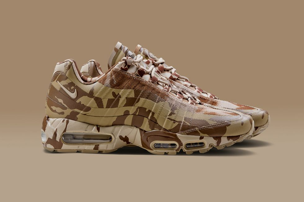 best website eefe6 8ad54 Mens Air Max 95 Brown Camo Trainer New style Nike air fine workmanship,  breathable type strong.