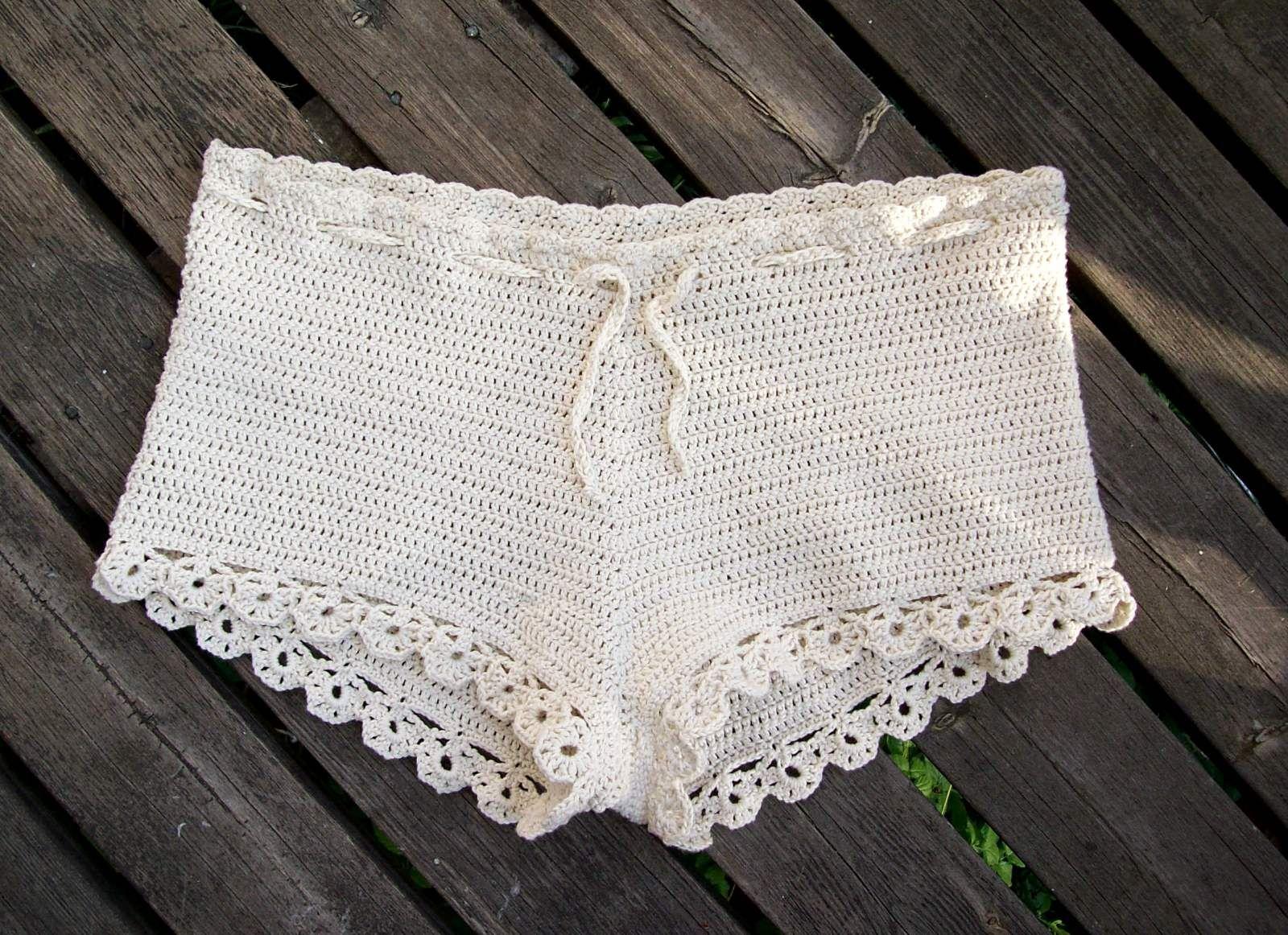 Mmatildas virkstad: Virkade shorts - nästan nästan exakt samma ...