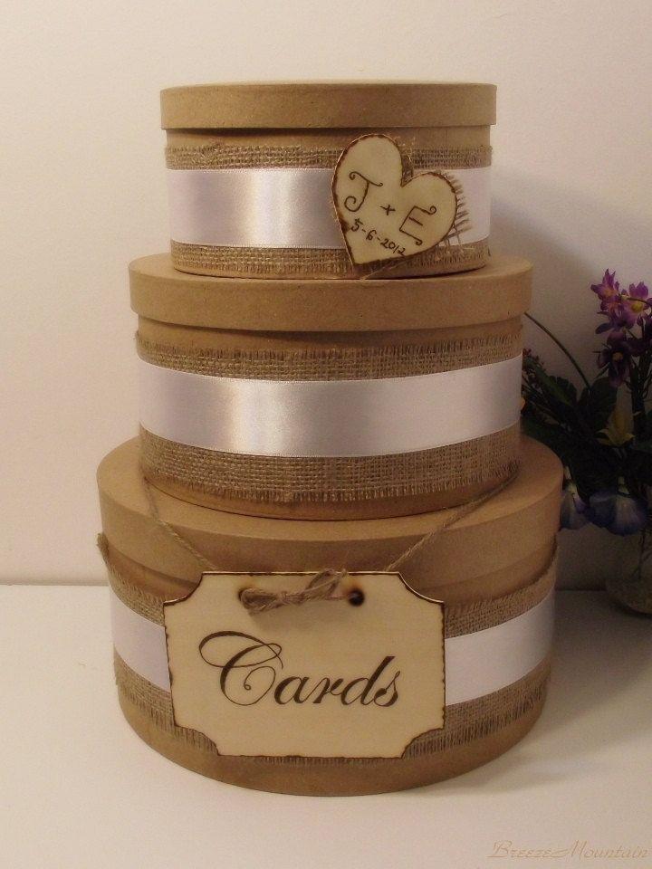 3 Tier Rustic Wedding Card Box Wedding Card Box by breezemountain8 ...
