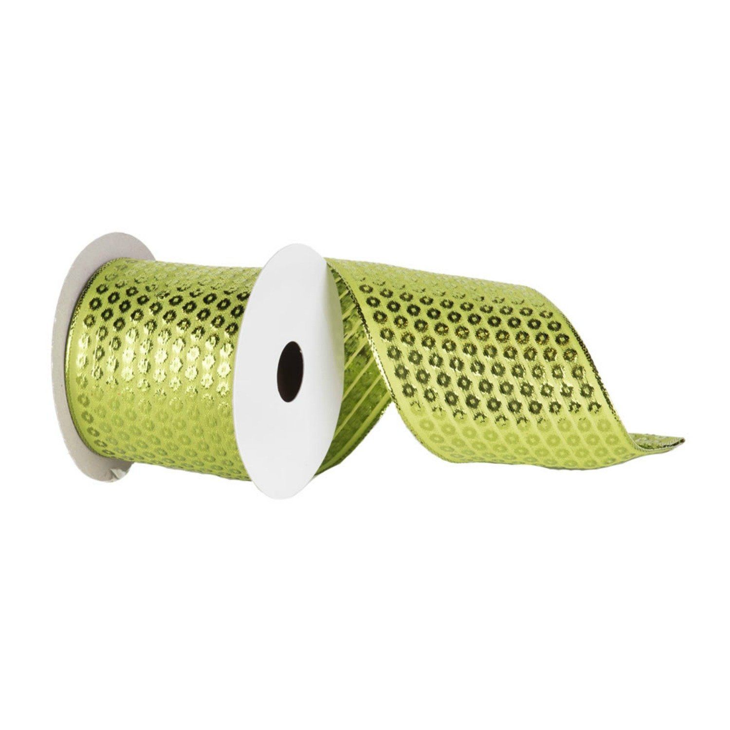 2 5 Metallic Dot Ribbon Lime Green 10 Yards Michelle S Adoorable Creations In 2019 Wreath Supplies Lime Easy Christmas Crafts