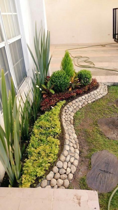 30 wunderbare DIY-Ideen mit Steinblumenbeeten #flowerbeds