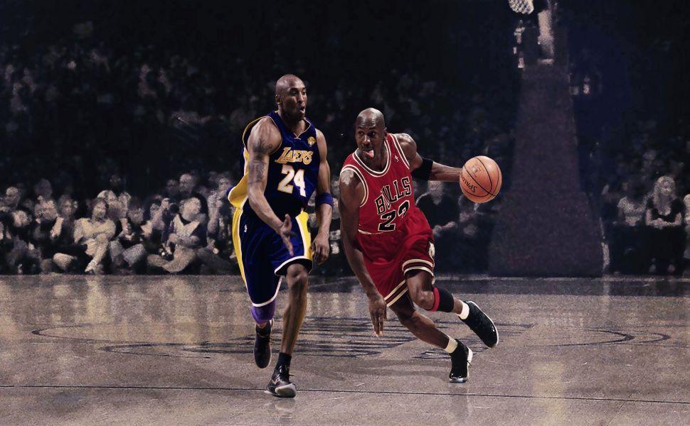 Kobe Bryant Vs Michael Jordan HD Wallpaper