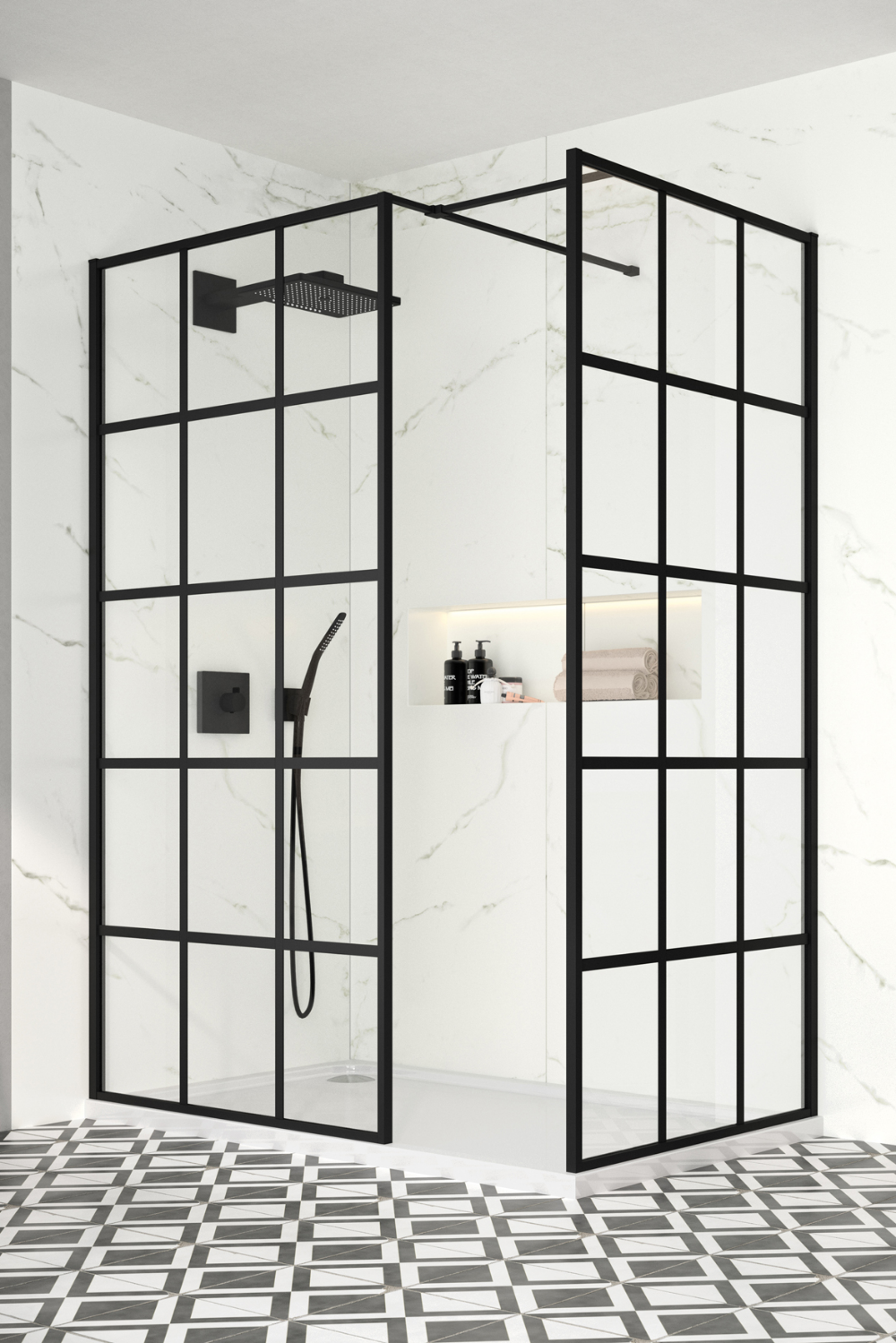 Take A Look At The Best Crittall Shower Designs That Will Give Your Bathroom An Instant Impact Bathroom Shower Enclosures Framed Shower Door Shower Screen