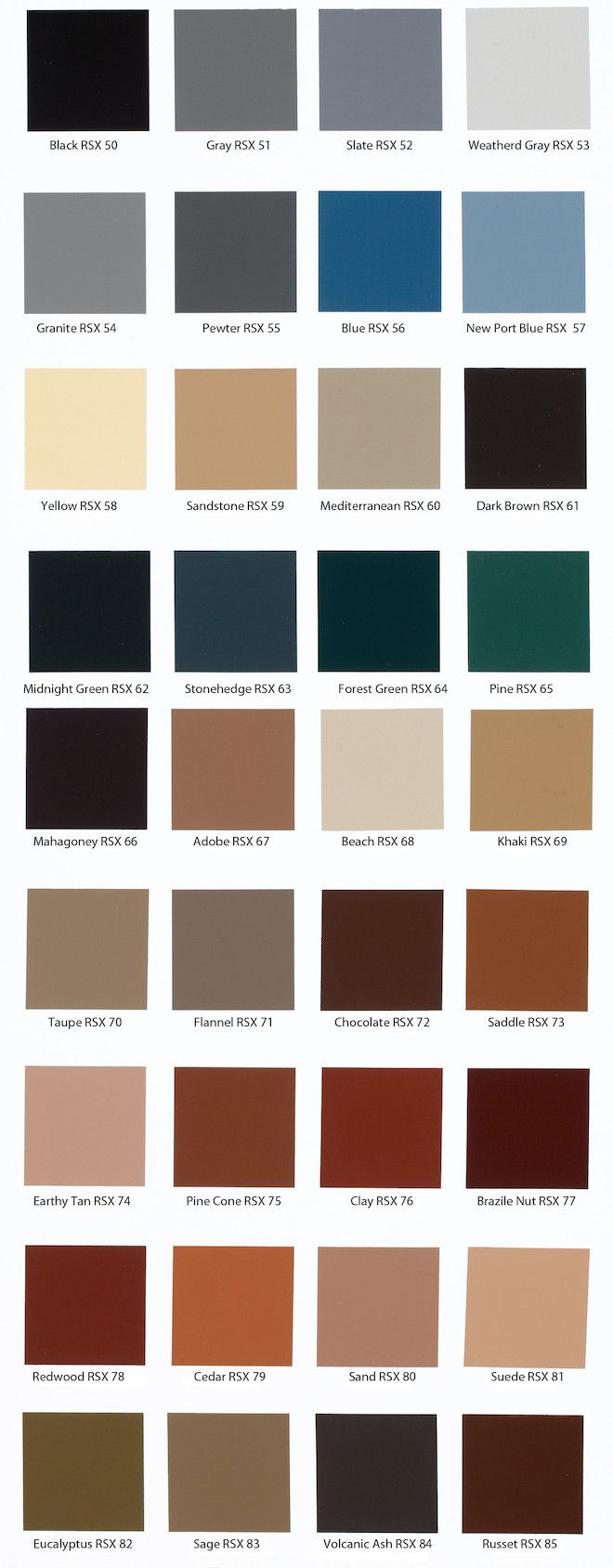 Behr Solid Concrete Stain Color Chart More