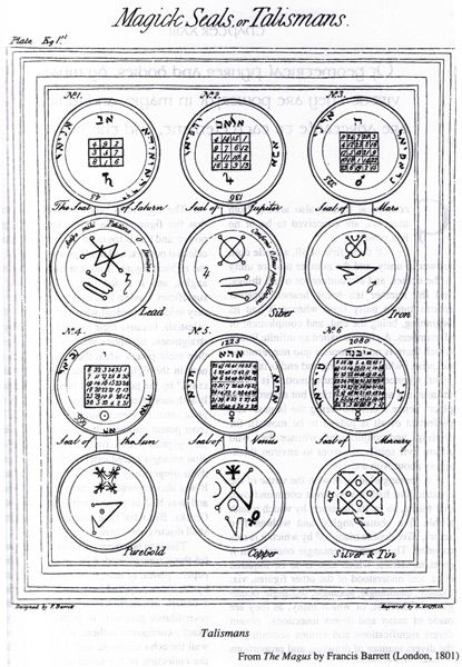 magick seals or talismans from the magus by francis