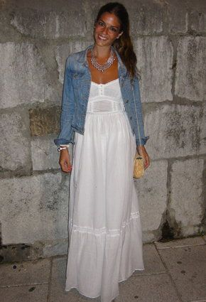 white maxi dress... I have one just like this!