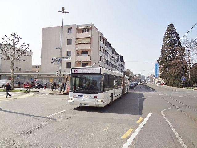 Bus Transfrontalier Gen U00e8ve Annemasse  Ligne 61   Suisse