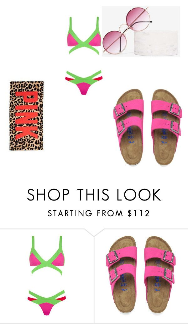 """""""Pool"""" by zhamyaaa on Polyvore featuring Agent Provocateur, Birkenstock and Spitfire"""
