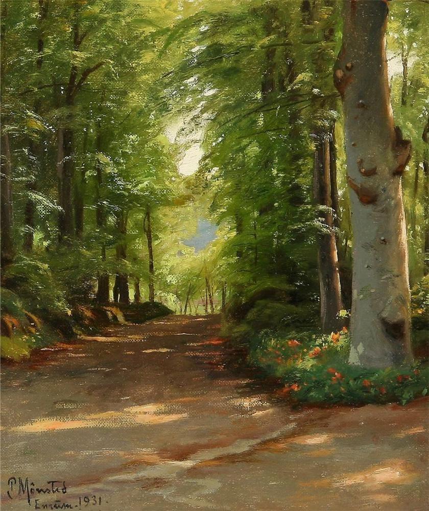 Diptyque S Crossing Les Paysages De L Artiste Danois Peder Mork Monsted Peintre Paysagiste Paysage Art Paysagiste