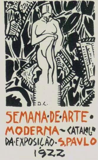 Cartaz Anunciando A Semana De Arte Moderna De 1922 Arte