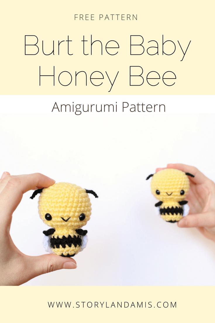 Free Pattern: Burt the Baby Honey Bee | Pinterest | Abeja, Patrón de ...