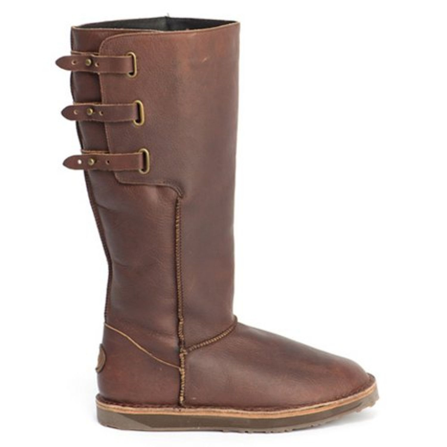 Discount Emu Boots for Women | Emu Chocolate Narooma Leather Boot ...