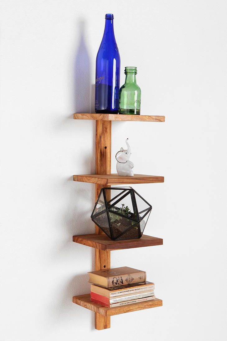 Teak Spine Small Wall Shelf Small Wall Shelf Wood Shelves Shelves