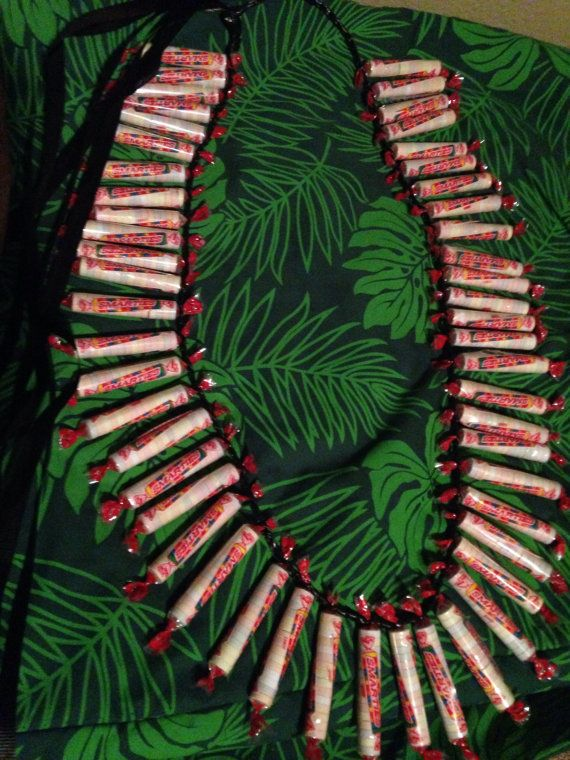 Lei Can Be Made With Construction Paper Yarn Solid: Smarties Candy Lei