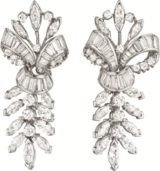 PHILLIPS : NY060211, , A Pair of Diamond Ear Pendants
