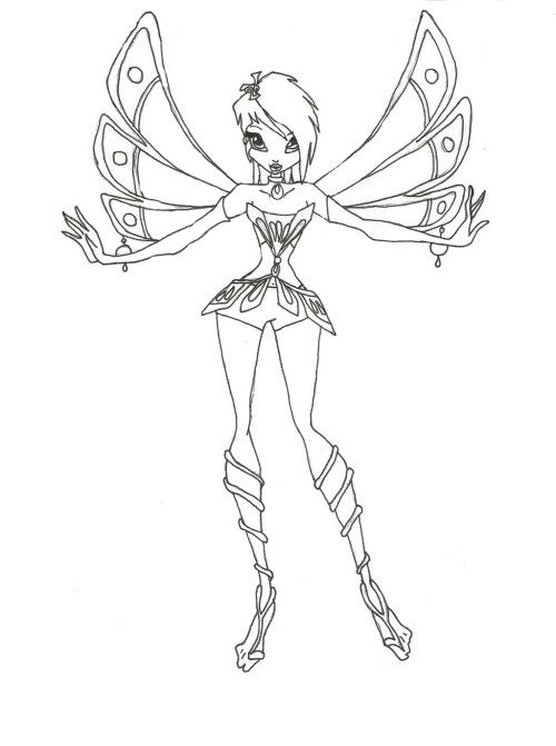 winx style short hair coloring pages coloring pages