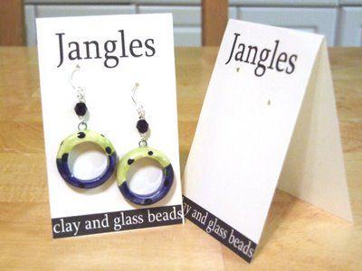 Art Bead Scene Blog: Bead Biz...Make your own Earring Cards