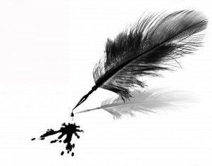 4058879 Tache D 39 Encre Noire Et Plume Sur Fond Blanc Isol Feather Pen Feather Pen Tattoo Pen Tattoo