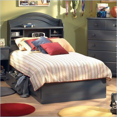 Bedroom Furniture: South Shore Summer Breeze Twin Captainu0027s Bed