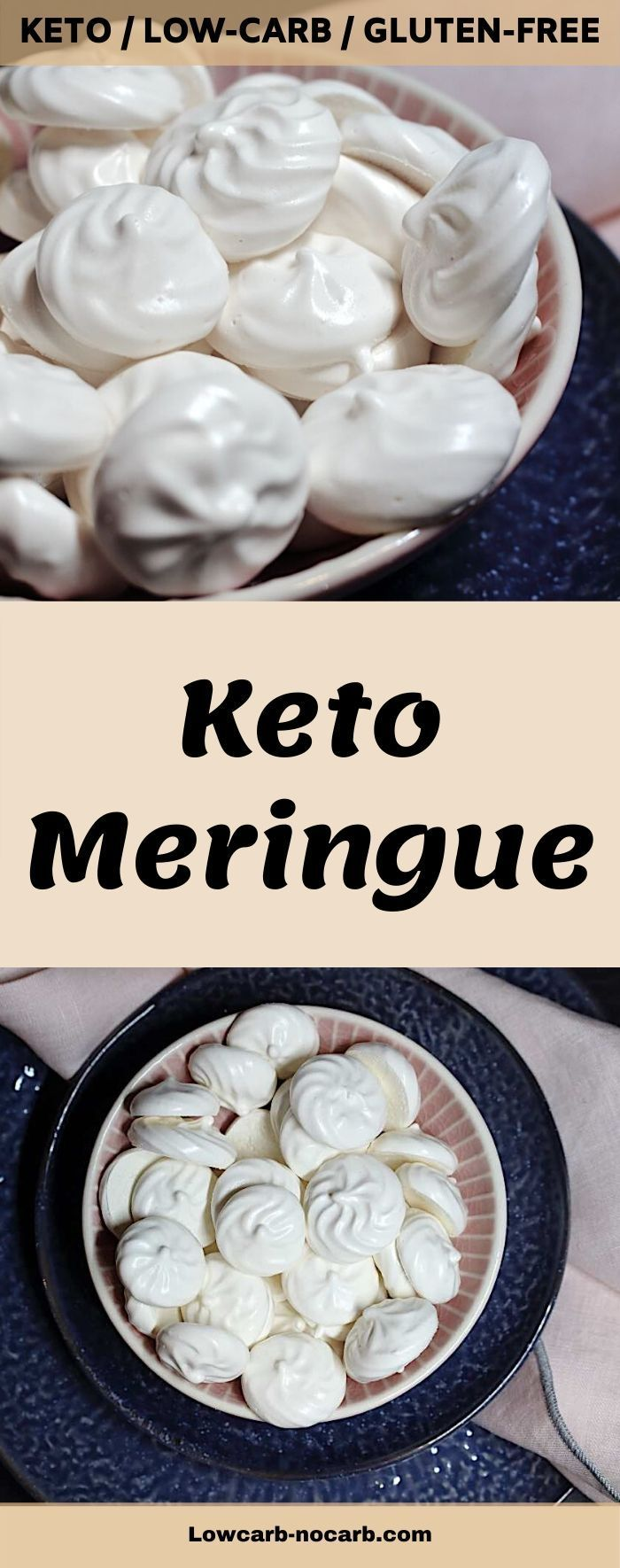 Keto Sugar-Free Meringue Cookies