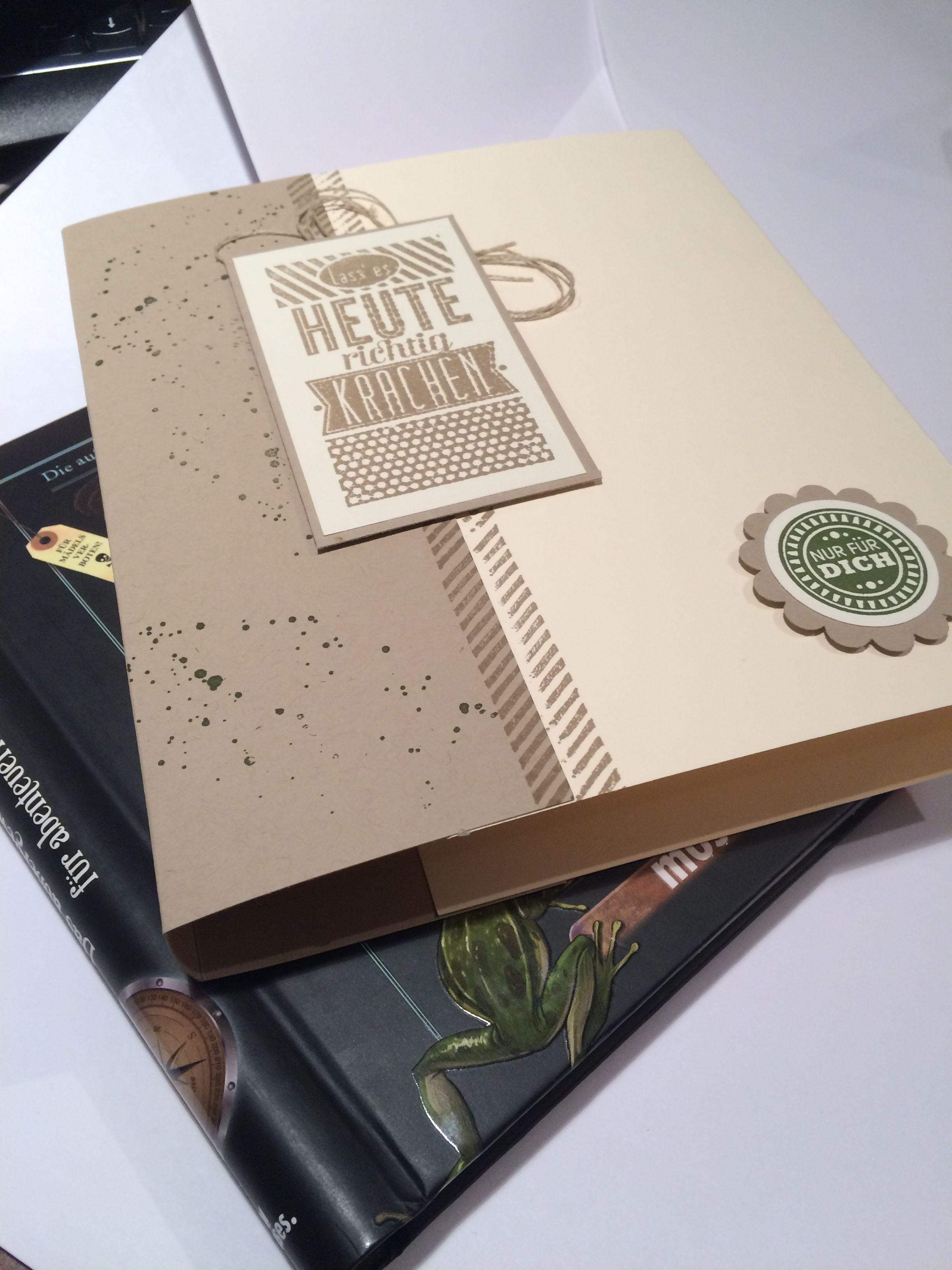 Buchverpackung mit Produkten von Stampinup