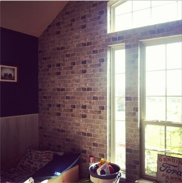 brick wallpaper country house - photo #20
