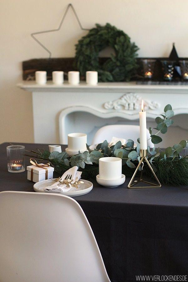 Weihnachtliche Tischdeko Gold Weiss Eukalyptus Rezepte Mit