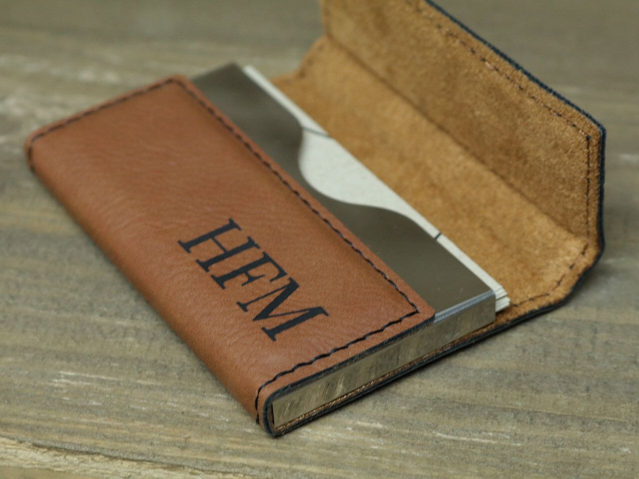 Personalized Business Card Holder Monogrammed Business Card Etsy Monogrammed Business Card Holder Personalized Business Card Holder Personalized Gifts For Men