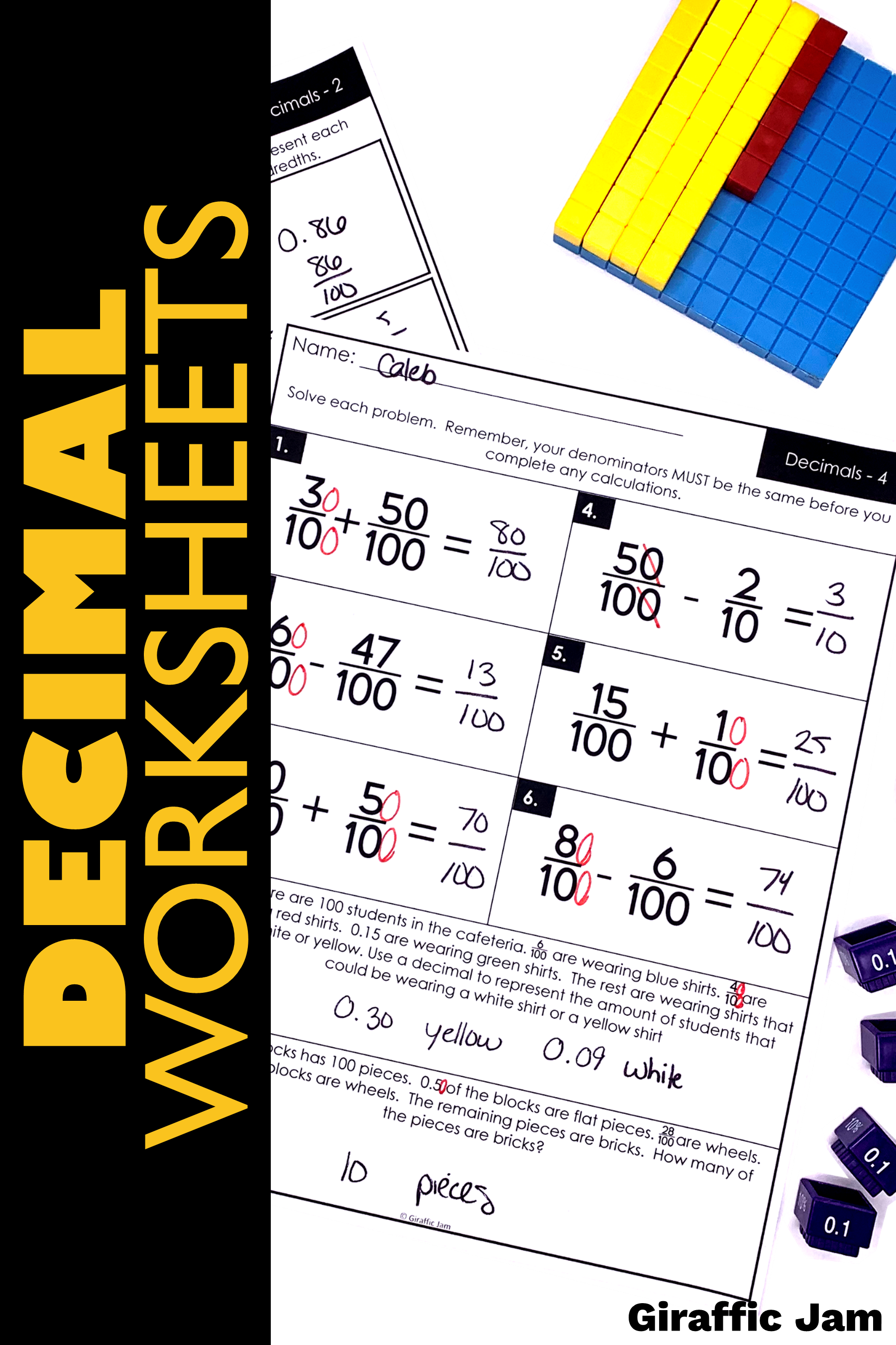 4th Grade fractions   Decimals   Fraction worksheets   4th Grade Math  Worksheets   Fraction Homework   Fractions elementary [ 2700 x 1800 Pixel ]