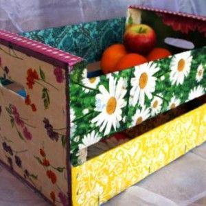 Ideas varias para reciclar y decorar cajones de fruta - Como decorar cajas de fruta ...