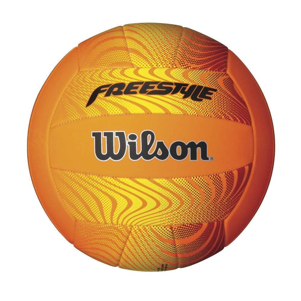 Wilson Freestyle Volleyball Orange Yellow Ball With Images Volleyball Fun Sports Freestyle