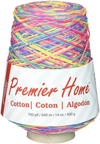 Premier Yarns 103201 Home Cotton Yarn  Multi ConeRainbow -- Click image to review more details.