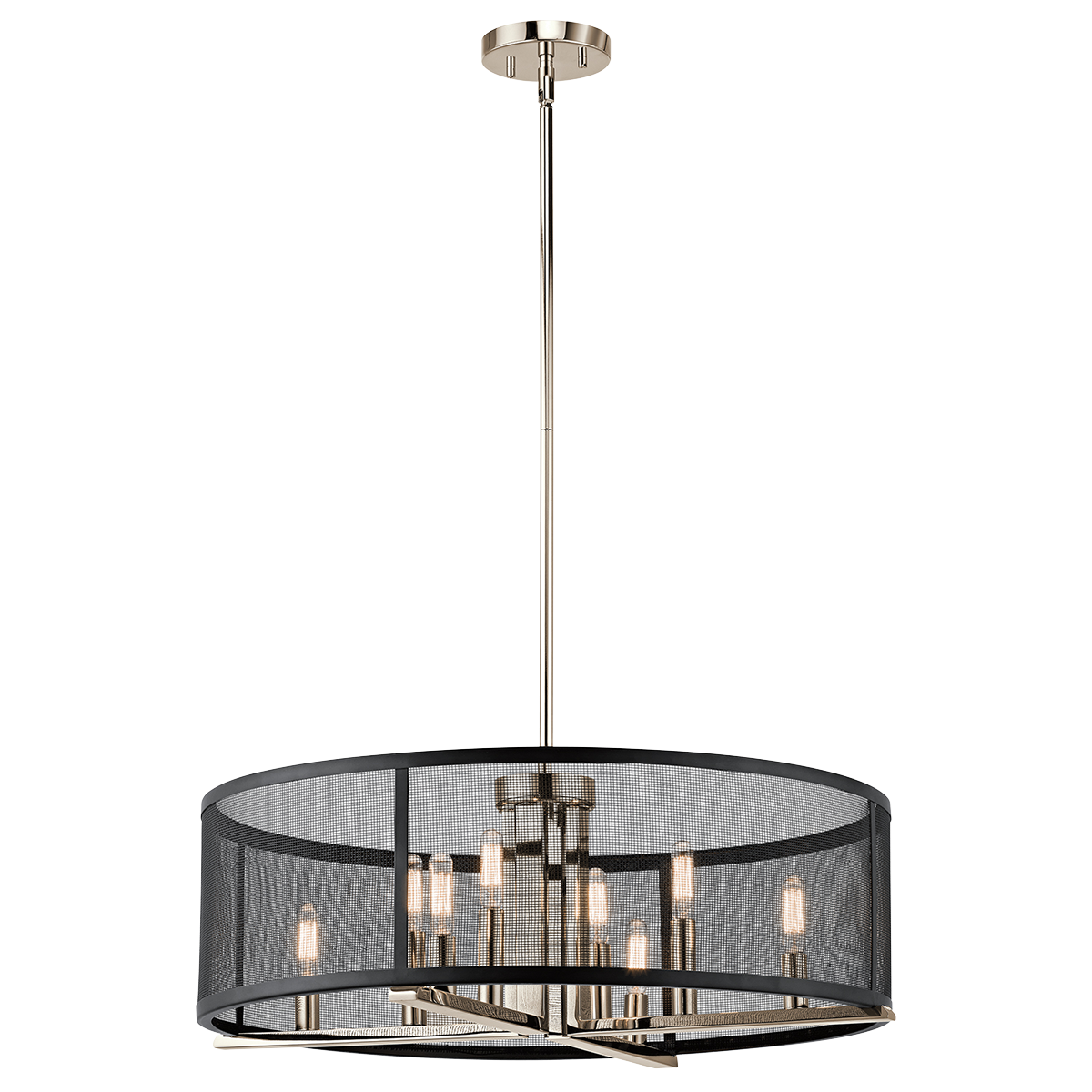 Titus 8 light chandelierpendant polished nickel dining room titus 8 light chandelierpendant polished nickel arubaitofo Images