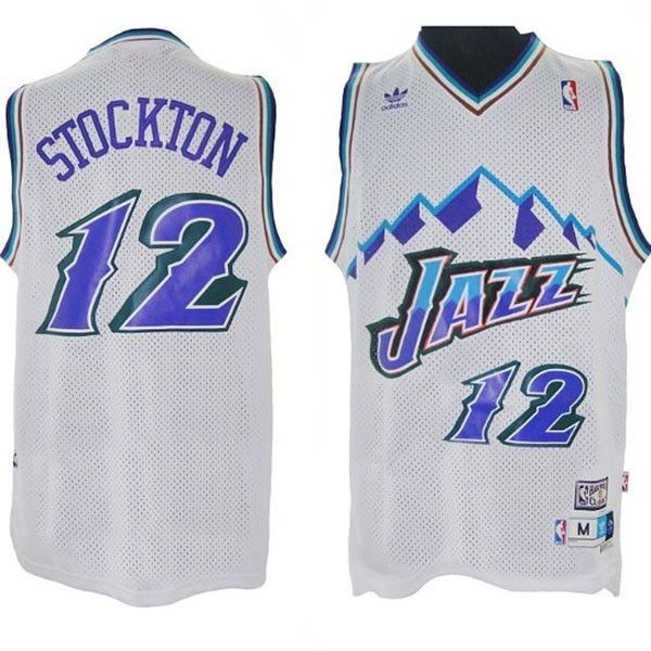 614b13a8582 Utah Jazz John Stockton  12 Home Jersey Authentic and Stitched -Great  quality -Iconic jersey